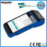 Tudo em um terminal POS, Fábrica de Alimentação Portátil de ecrã táctil terminal POS, GPRS, Wi-Fi, Bluetooth para pagamento, Mj Hmpos4