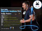 Fone de ouvido sem fio novo de Bluetooth do esporte 2016 com Mic