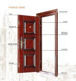 Porta de aço barata do ferro das portas dobro do estilo da forma para a parte externa