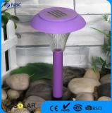 Sans fil Trois couleurs en option Champignon en plastique Solaire jardin Lumière Patio Light