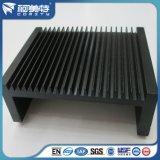 Fuente de fábrica negro anodizado disipador de calor para radiador de la máquina