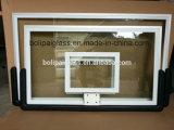 Черной система Backboad установки стены бакборта PU Toughened прокладкой стеклянная