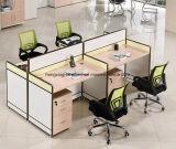 Estação de trabalho de madeira da equipe de funcionários do caixeiro do conjunto da divisória do escritório do MDF (HX- NCD087)