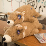 Juguete relleno abajo llenado del oso polar del juguete de la felpa