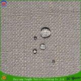 Tissu enduit de rideau en arrêt total de franc de polyester tissé par utilisation de rideau en guichet d'hôtel
