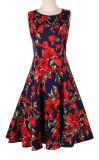 Haute qualité 1950s 60s Rockabilly Vintage Nouveauté robes retro de pivotement