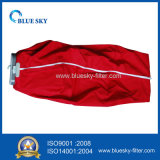 Красный мешок пылевого фильтра ткани для пылесоса