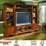 Grand Stand de télévision en bois Wall Stystem de centre de divertissement (GSP15-022)