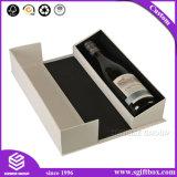 Коробка вина благонадежного подарка бумаги пробки картона поставщика круглого упаковывая