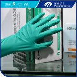 Цветастый порошок Dispsoable перчаток нитрила освобождает