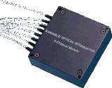 8 canales de fibra óptica de la matriz de la VOA MEMS