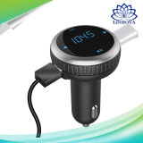 Заряжатель USB индикации LCD передатчика всеобщего звонока беспроволочный FM mp3 плэйер набора автомобиля Bluetooth Hands-Free для франтовского телефона