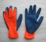 перчатка работы латекса отделки померанцового вкладыша Knit шнура 7g грубая