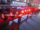 9*10W RGBW 4in1 LED multicolor Plat la luz de la IGUALDAD con la batería 5-6hours