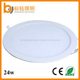 Shopping Malls Kitchen Toilet Round 24W LED Panel Light éclairage de plafond Down Lamp