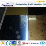 L'acier inoxydable décoratif de surface noire du Ti 201 plaque la feuille