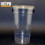 عادة يطبع واضحة شفّافة مستهلكة [بّ] محبوب فنجان بلاستيكيّة مع غطاء