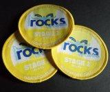 Gelbe Overlocking Förderung-rundes gesponnenes Abzeichen