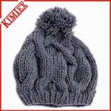Toques tricotées acryliques de réchauffeur de l'hiver