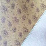 Leopard цветочный зерна синтетических PU кожа для обуви подкладка Hx-L1704