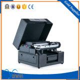 Máquina de impressão UV do tamanho UV pequeno UV da impressora A4 da impressora do diodo emissor de luz para o couro