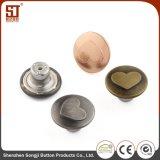 Modificado para requisitos particulares alrededor del botón simple de los pantalones vaqueros del metal de la manera de Monocolor