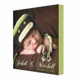 Stampa resa personale della tela di canapa della foto, arte della parete di annuncio della foto del bambino, della neonata o del neonato, stampa della tela di canapa della parete della foto del bambino
