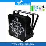 디스코 가벼운 9*18W 전지 효력 무선 DMX LED 동위