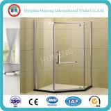 Moderar la ducha de vidrio de la puerta de cristal de cuarto de baño /