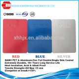 El color de plata recubierto de aluminio de la bobina PPGI bobinas de acero Rojo Azul Blanco