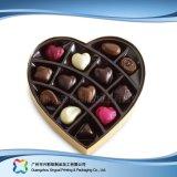 Rectángulo de empaquetado en forma de corazón del regalo de la tarjeta del día de San Valentín para el chocolate del caramelo (XC-fbc-016)