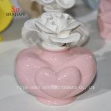 Hornilla de cerámica Aromatherapy  Sostenedor de la fragancia de Tealight del difusor con Flower/C