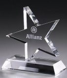 Trofeo di cristallo del premio della stella di alta qualità di vendita della fabbrica per la decorazione