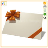 Tarjeta de felicitación de papel plegable decorativa modificada para requisitos particulares de la postal de la tarjeta del regalo de la Navidad