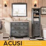 Heiße verkaufende amerikanische Art-festes Holz-Badezimmer-Eitelkeit (ACS1-W46)