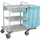 Metallrahmen-Krankenhaus-Leinenwäscherei-Laufkatze der medizinischen Instrument-AG-Ss017