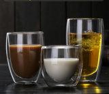 Parede dupla Borocilicate Copo de vidro beber café e chá