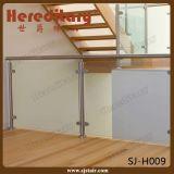 ポーチの柵(SJ-H1595)のための内部のステンレス鋼のガラス手すり