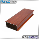 Color de aluminio de madera del perfil del diseño moderno