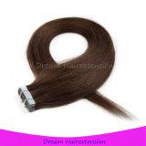 100%年のRemyテープ人間の毛髪の卸売の皮のよこ糸