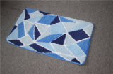 Designer Colorful Geometry Decoration Microfibre Custom Shag Bathroom Lavable Carpet