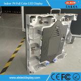 Indicador de diodo emissor de luz interno do arrendamento da cor cheia do RGB P4 para o estágio