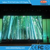 Indoor P7.62 fixé plein écran à affichage LED de couleur pour la publicité