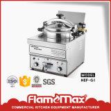 Sartén profunda eléctrica de la presión de gas del pollo industrial comercial de los alimentos de preparación rápida