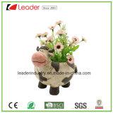 Покрашенный вручную цветочные горшки курицы Polyresin декоративные для украшения сада