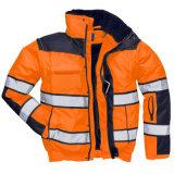 流行の高い可視性の防水通気性の人の反射安全雨ジャケット