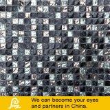 8mm mezcla de piedra del mosaico de cristal con el tratamiento de metales
