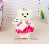 Миниая милая игрушка медведя с платьем для подарков дня мати