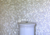 da pérola de água doce da matriz de 20*20mm mosaico puro do quadrado branco