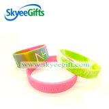 Braccialetto differente del silicone di colore e di formato di abitudine